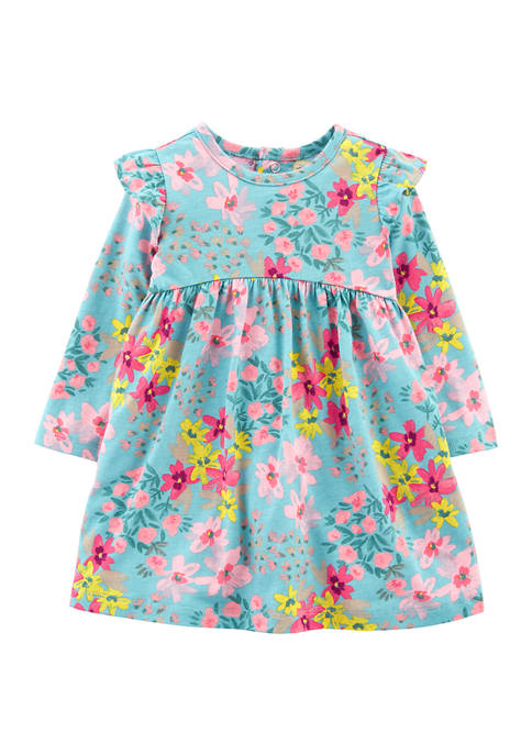 Carter's® Baby Girls Floral Jersey Dress