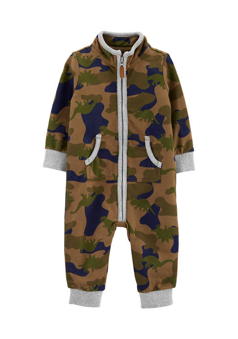 Carter's® Baby Boys Camo French Terry Jumpsuit