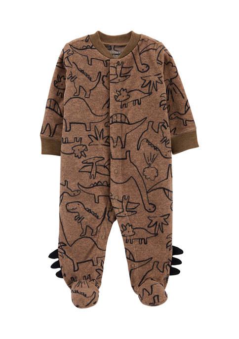 Baby Boys Dinosaur Snap-Up Fleece Sleep & Play