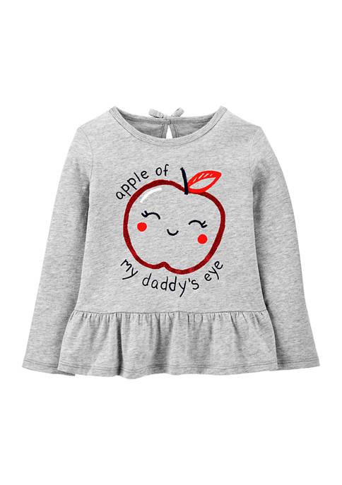 Carter's® Baby Girls Apple Of Daddys Eye Peplum