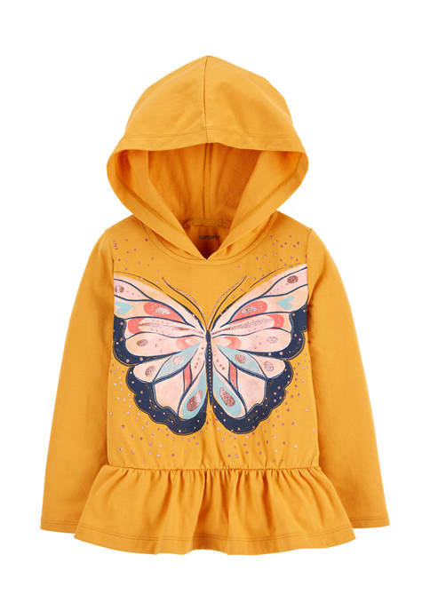 Baby Girls Yellow Butterfly Peplum Top