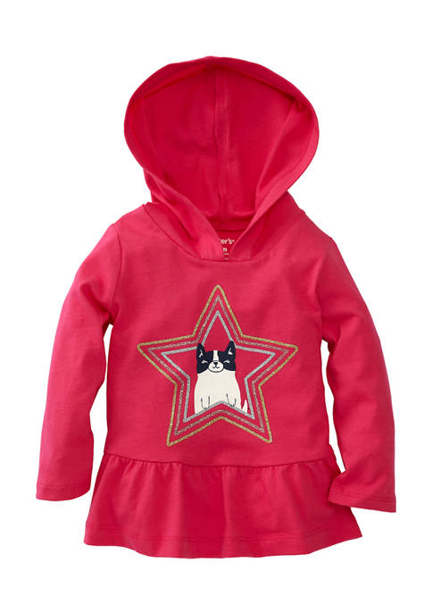Carter's® Baby Girls Cat Star Hooded Top