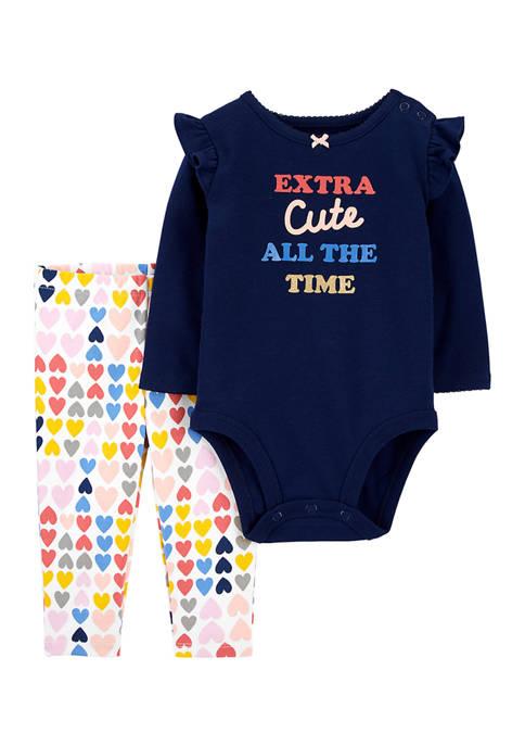 Baby Girls Bodysuit and Leggings Set