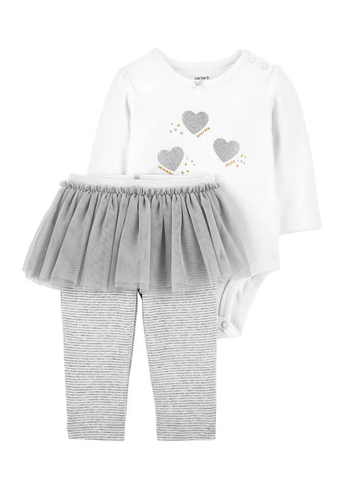 Carter's® Baby Girls Bodysuit and Tutu Pants Set