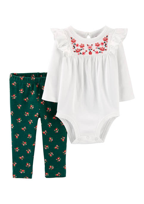 Carter's® Baby Girl 2 Piece One-Piece and Legging