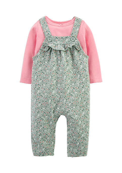 Carter's® Baby Girls 2-Piece T-Shirt and Coveralls Set