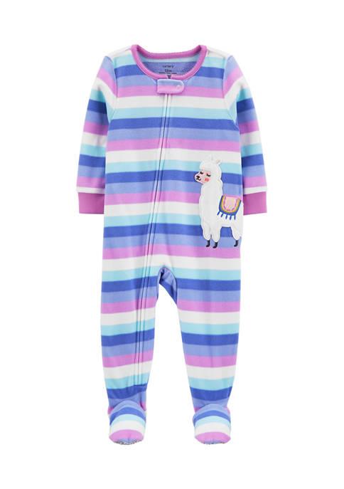 Carter's® Baby Girls Fleece Llama Footies