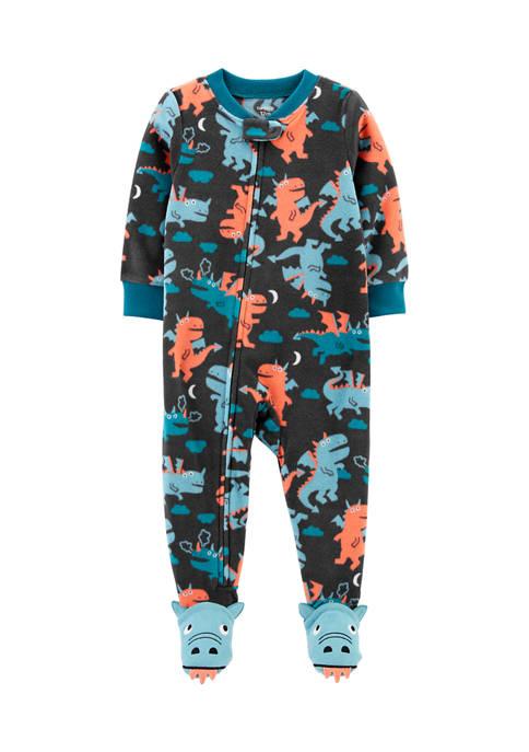 Carter's® Baby Boys Fleece Dragon Footies