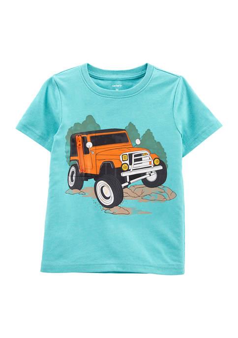 Carter's® Baby Boys Car Peek-A-Boo Snow Yarn Tee