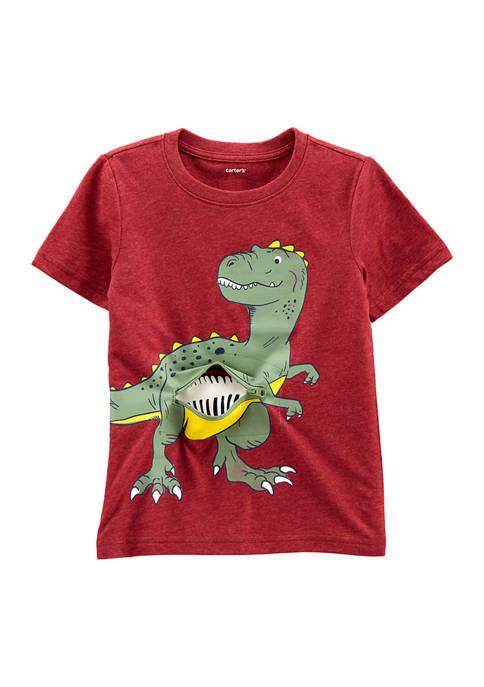 Baby Boys Dinosaur Peek-A-Boo Snow Yarn Tee