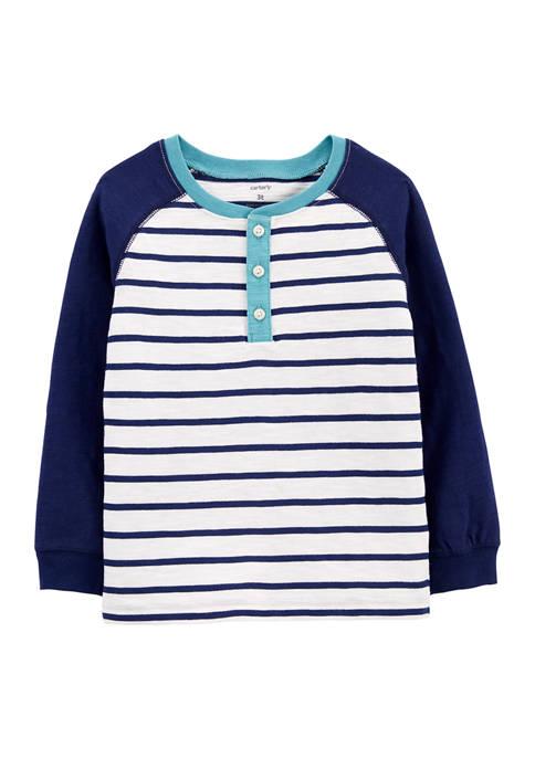 Carter's® Baby Boys Stripe Henley T-Shirt