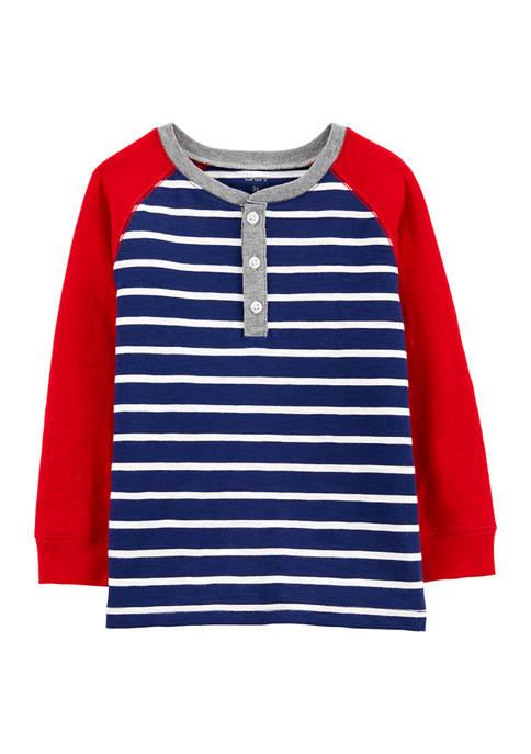 Baby Boys Stripe Henley T-Shirt