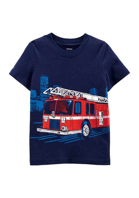 Carter's® Baby Boys Firetruck Jersey Tee