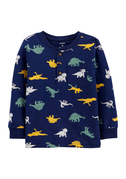 Baby Boys Printed Henley T-Shirt