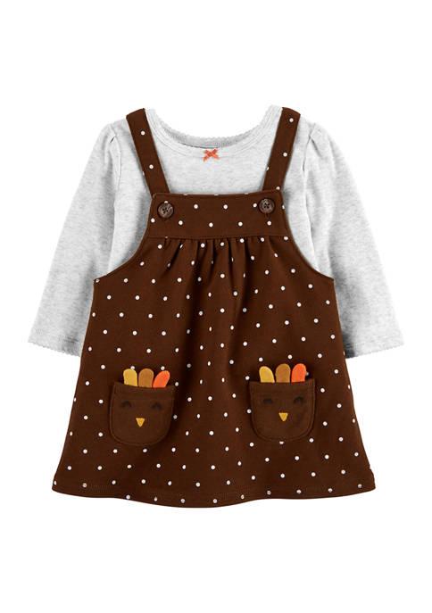 Carter's® Baby Girls 2-Piece Thanksgiving Bodysuit and Jumper