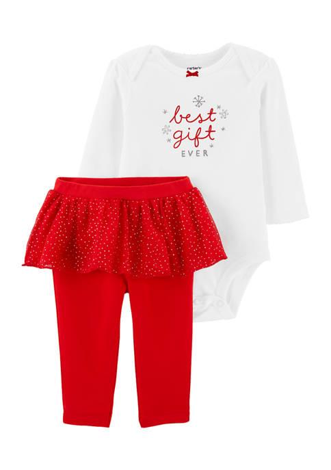 Carter's® Baby Girls 2-Piece Christmas Bodysuit and Tutu