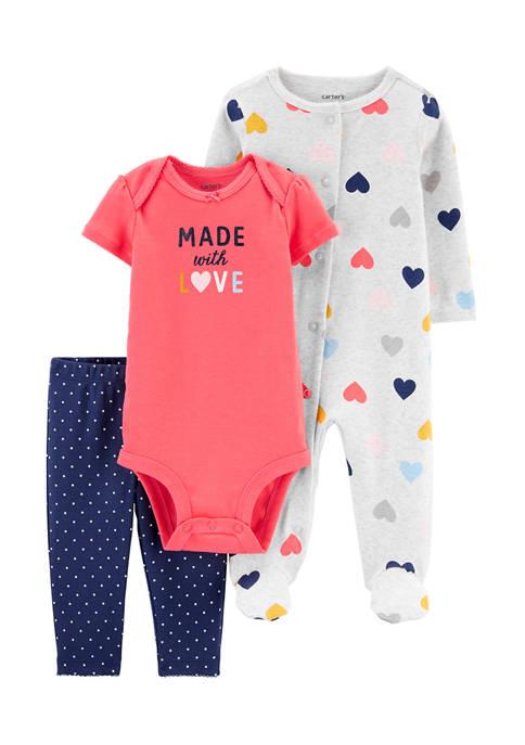 Carter's® Baby Girls 3-Piece Sleep & Play Bodysuit