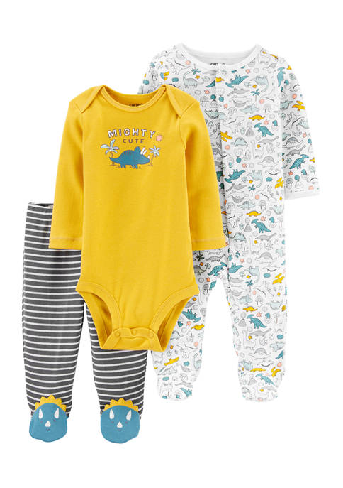 Carter's® Baby Boys 3-Piece Dinosaur Bodysuit and Footed