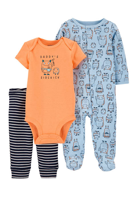 Carter's® Baby Boys 3 Piece Monster Sleep and