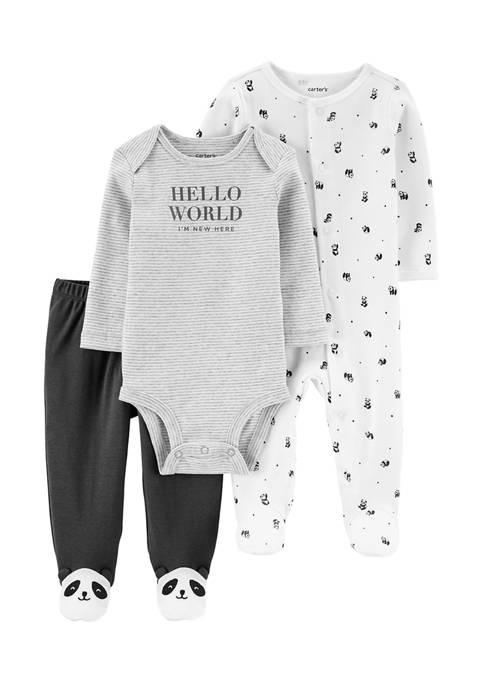 Carter's® Baby Boys 3 Piece Panda Bodysuit and