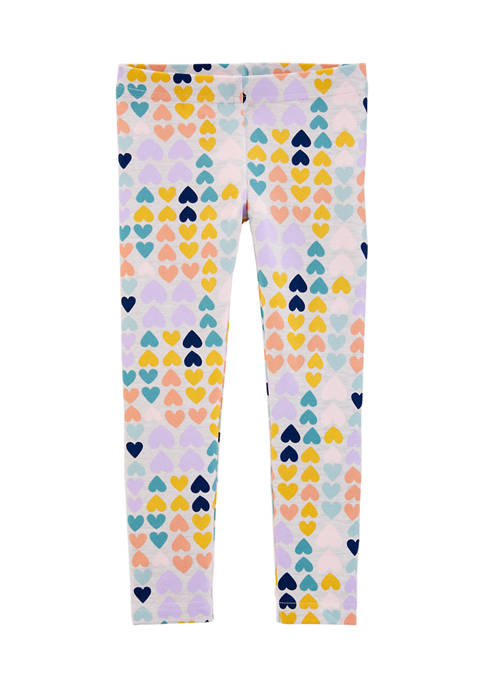 Carter's® Baby Girls Multi Heart Leggings