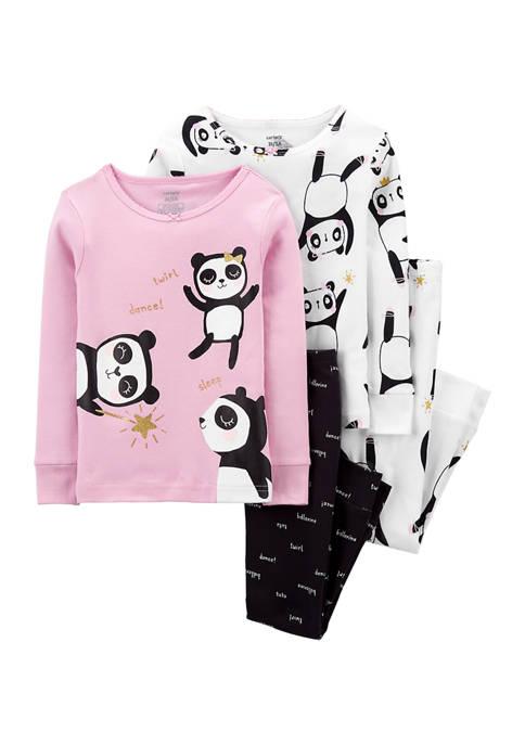 Baby Girls Panda Cotton Pajama Set