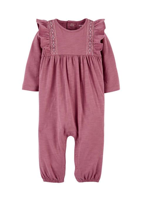 Baby Girls Pink Jumpsuit