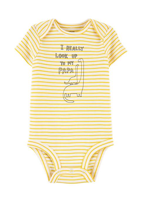 Baby Boys Yellow Stripe Bodysuit