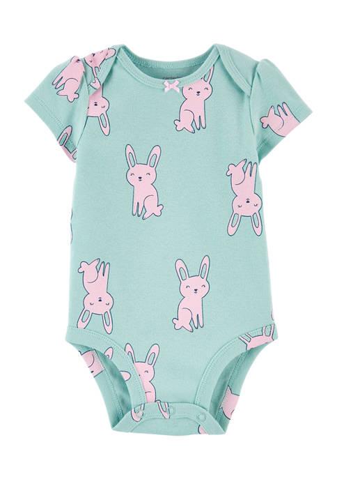 Baby Girls Green Bunny Bodysuit