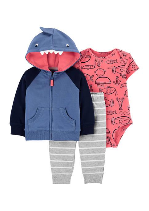 Carter's® Baby Boys Shark Jacket Set