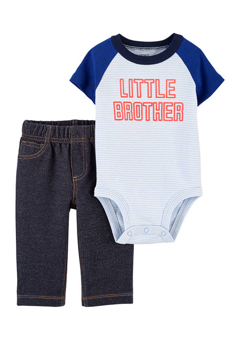 Carter's® Baby Boys Little Brother 2-Piece Set