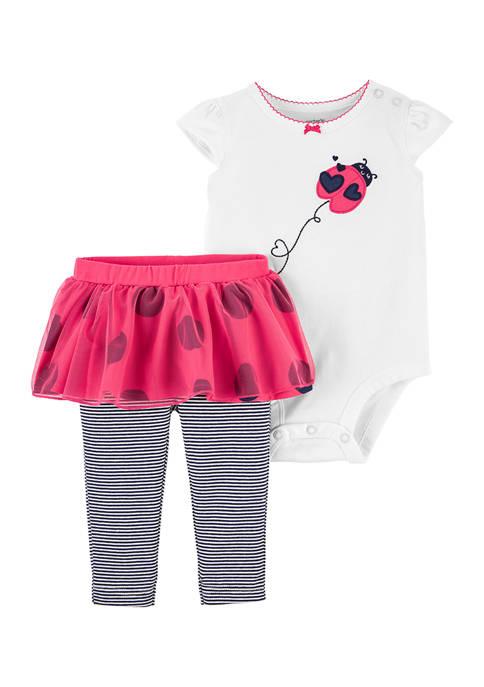 Carter's® Baby Girls Ladybug Bodysuit and Tutu Pants