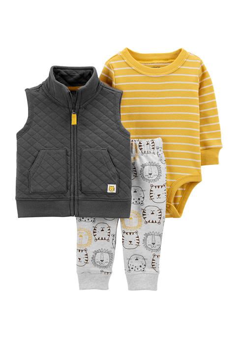 Baby Boys Yellow Vest Set