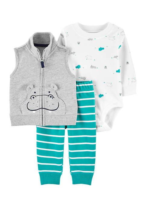 Baby Boys Printed Vest Set