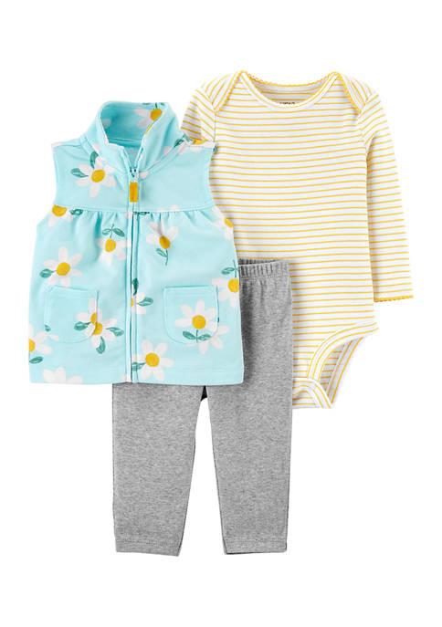 Baby Girls Printed Vest Set