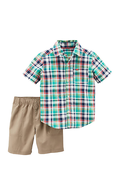 Carter's® Boys Infant 2-Piece Button-Front Top & Shorts