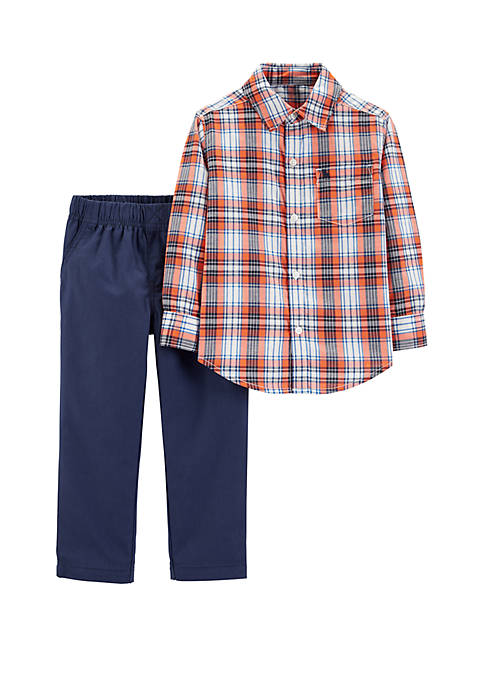 Carter's® Baby Boys 2-Piece Button-Front Top and Denim