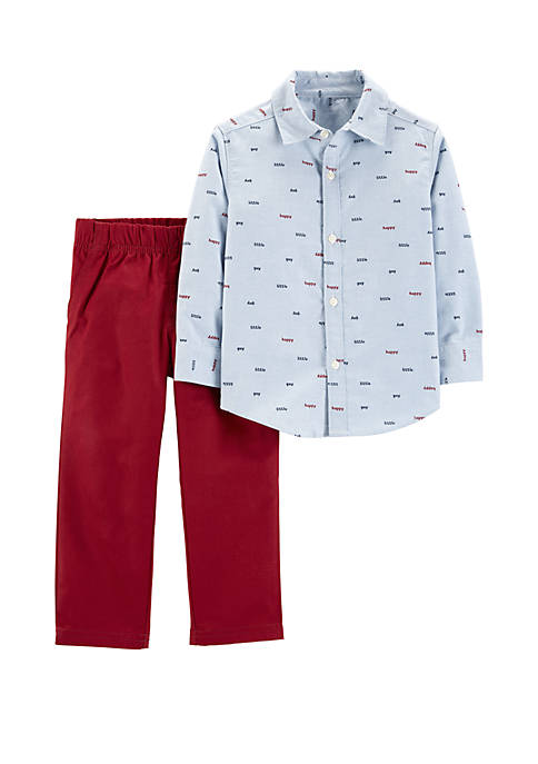 Carter's® Baby Boys 2-Piece Button-Front Top and Canvas