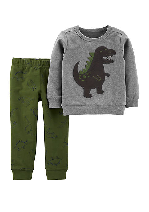 Carter's® Baby Boys 2-Piece Dinosaur Pullover and Jogger