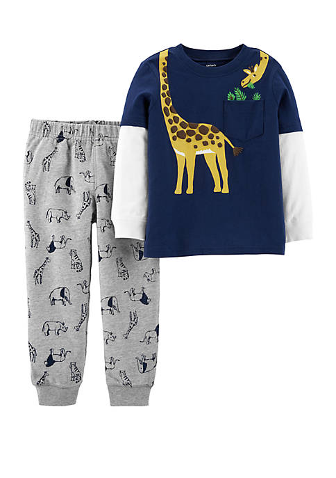Carter's® Baby Boys 2-Piece Giraffe Layered-Look Tee and