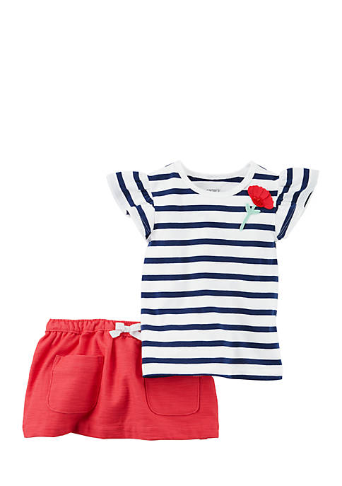 Carter's® Girls Infant 3-Piece Skort Set