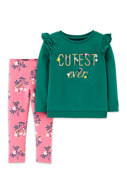 Carter's® Baby Girls Cutest Ever Tee and Floral
