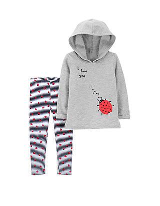 ba278d708a3fd Carter's® Baby Girls Ladybug Hoodie & Legging Set | belk
