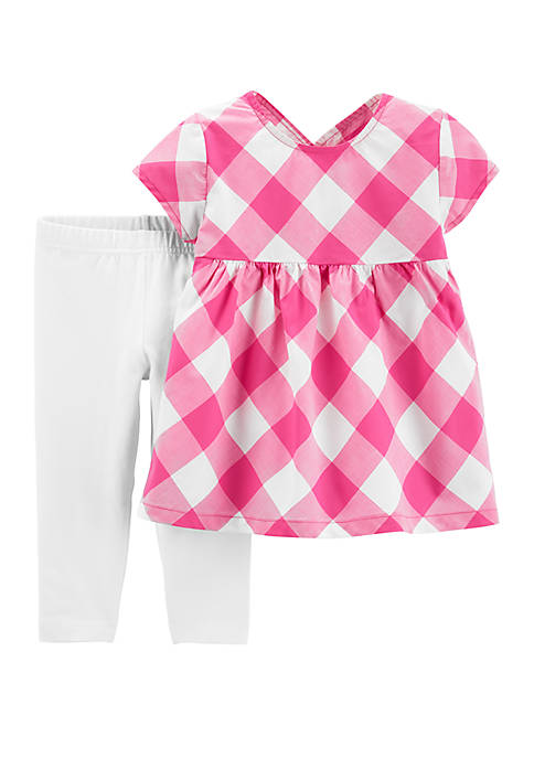 Carter's® Baby Girls 2 Piece Gingham Top and