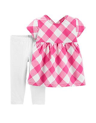 c327a44864d5d Carter's® Baby Girls 2 Piece Gingham Top and Capri Legging Set | belk