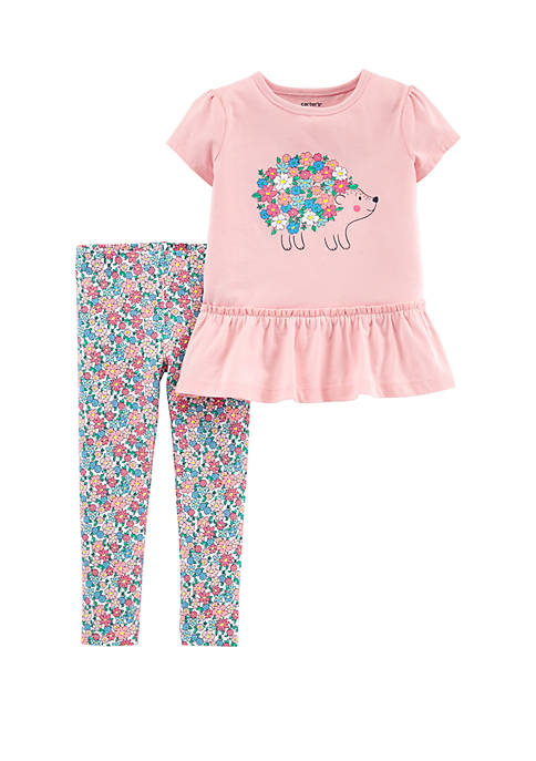 Carter's® Baby Girls 2-Piece Hedgehog Top and Floral