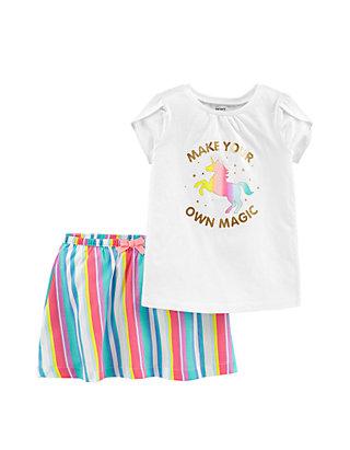 15fc2a611e4b3 Carter's® Baby Girls 2-Piece Unicorn Top and Rainbow Skirt Set | belk