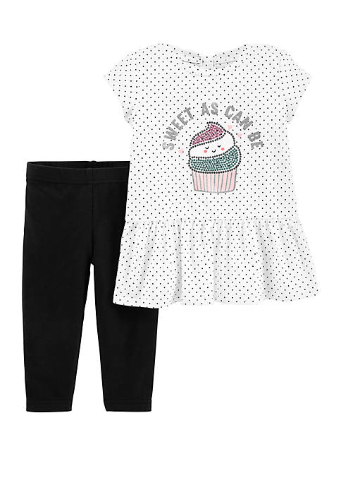 Carter's® Baby Girls Cupcake Peplum Top and Legging
