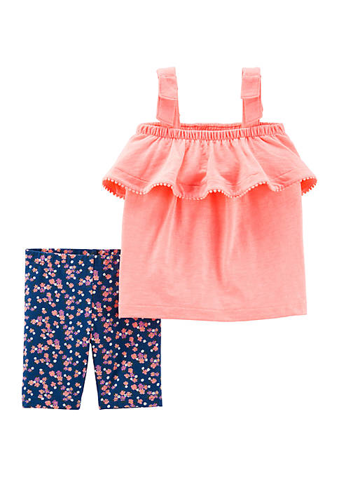 Carter's® Baby Girls 2 Piece Neon Tank and