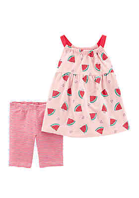 c4252c649ae88 Carter s® Baby Girls 2 Piece Watermelon Tank and Bike Short ...